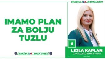 Lejla Kaplan, kandidat SDA Tuzla za Gradsko vijeće: Imamo Plan za bolju Tuzlu!