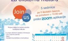 Počinje besplatna online pripremna nastava za eksternu maturu, prijavi se!