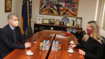 Nj. E. ambasadorica Kraljevine Švedske u BiH, Johanna Stromquist u posjeti gradonačelnika Tuzle, Jasminu Imamoviću