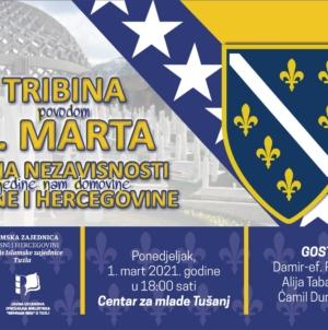 Tribina povodom 1. marta Dana nezavisnosti Bosne i Hercegovine