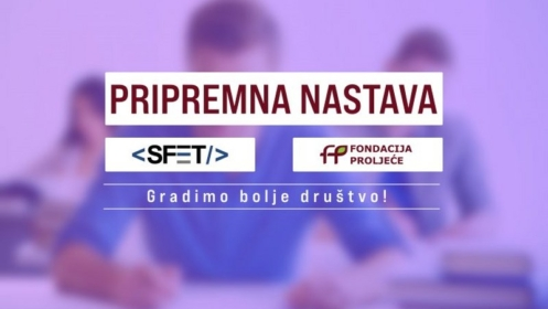 Pripremna nastava: Saradnja između Fondacije ˝Proljeće˝ i SFET-a