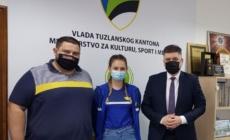 Prijem za Emu Lovrić juniorsku državnu prvakinju u stonom tenisu