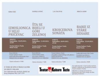 "Predstavom ""Krojcerova sonata"" nastavlja se pozorišna ponuda Teatra kabare Tuzla"